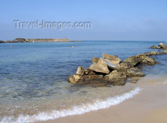 israel138: Israel - Qesarriya / Caesarea Maritima / Caesarea Palaestina: Mediterranean sea - rocky beach - photo by Efi Keren - (c) Travel-Images.com - Stock Photography agency - Image Bank