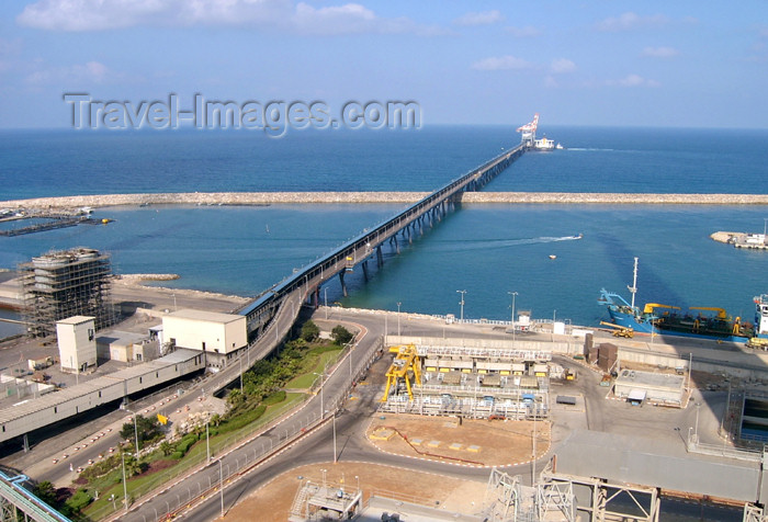 israel149: Israel - Kibbutz Sdot Yam, Haifa District: pier from above - photo by Efi Keren - (c) Travel-Images.com - Stock Photography agency - Image Bank