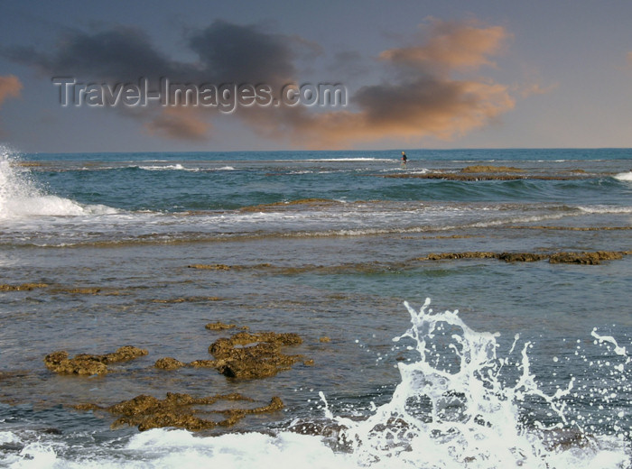israel160: Israel - Kibbutz Sdot Yam: lonely in the sea - photo by Efi Keren - (c) Travel-Images.com - Stock Photography agency - Image Bank