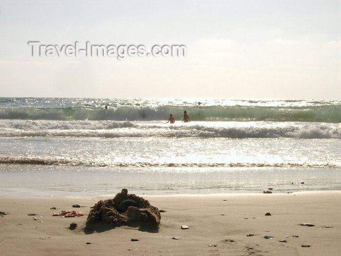 israel173: Israel - Kibbutz Sdot Yam: sand castle ruins - photo by Efi Keren - (c) Travel-Images.com - Stock Photography agency - Image Bank