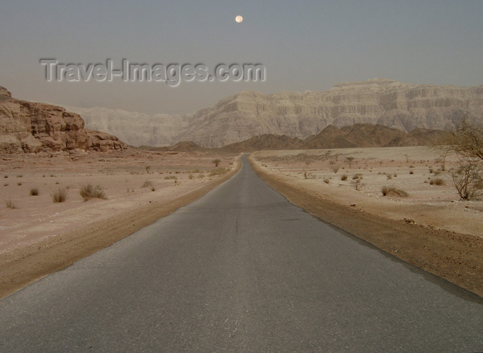 israel179: Israel - Eilat - Timna Valley Park: evening in the desert road - Southern Negev - photo by Efi Keren - (c) Travel-Images.com - Stock Photography agency - Image Bank
