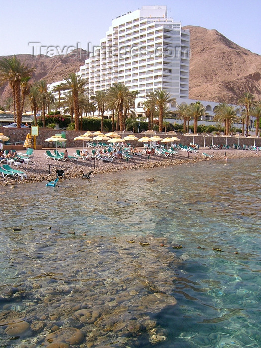 israel191: Israel - Eilat: beach front - Princess Hotel, five star near the Egyptian border - Red Sea - photo by Efi Keren - (c) Travel-Images.com - Stock Photography agency - Image Bank