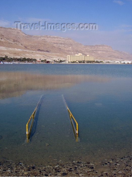 israel201: Israel - Dead sea: beware of the Dead Sea - photo by Efi Keren - (c) Travel-Images.com - Stock Photography agency - Image Bank