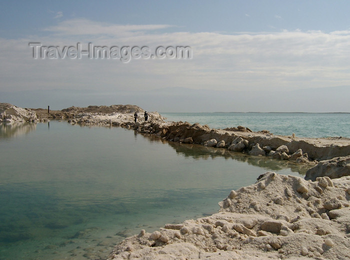 israel210: Israel - Dead sea: salt island - lagoon - photo by Efi Keren - (c) Travel-Images.com - Stock Photography agency - Image Bank
