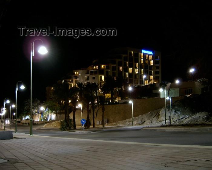 israel214: Israel - Dead sea - Neve-Zohar: Hotel Novotel Thalassa Dead Sea - nocturnal - photo by Efi Keren - (c) Travel-Images.com - Stock Photography agency - Image Bank