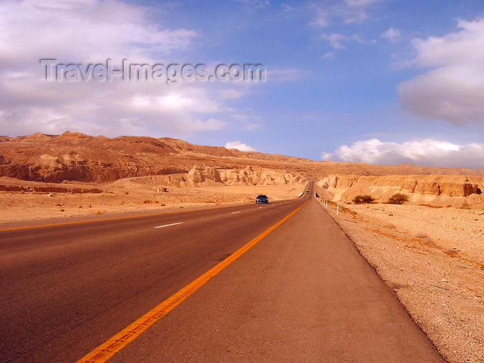 israel216: Israel - Dead sea: desert road - photo by Efi Keren - (c) Travel-Images.com - Stock Photography agency - Image Bank