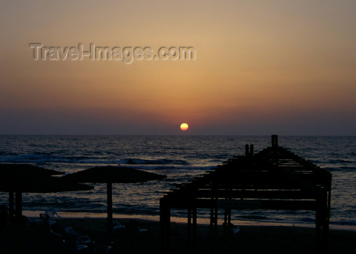 israel236: Israel - Caesarea - Hadera: Givat Olga beach - dusk - photo by Efi Keren - (c) Travel-Images.com - Stock Photography agency - Image Bank
