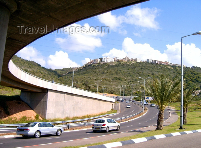israel25: Haifa, Israel: city entrance - viaduct - fly-over - photo by E.Keren - (c) Travel-Images.com - Stock Photography agency - Image Bank