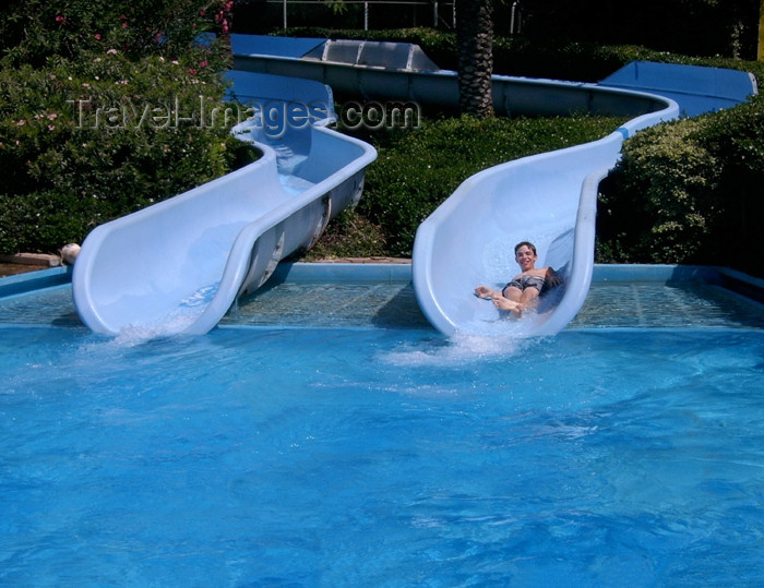 israel258: Israel - Shfaim: water park - water slides - photo by E.Keren - (c) Travel-Images.com - Stock Photography agency - Image Bank