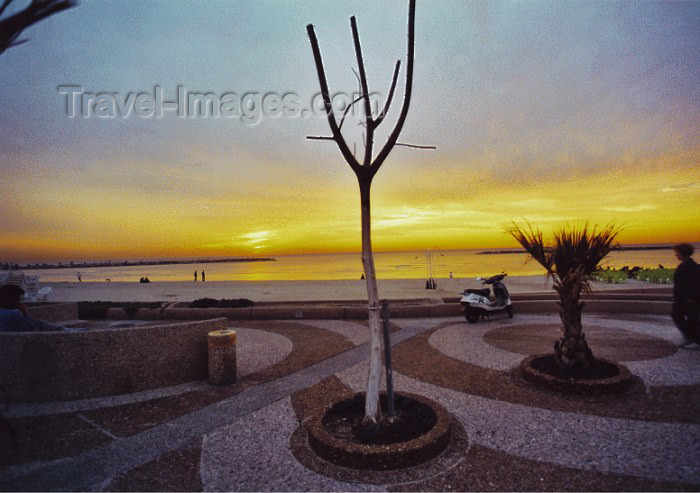 israel27: Israel - Tel Aviv: sunset on the beach front - photo by C.Ariav - (c) Travel-Images.com - Stock Photography agency - Image Bank