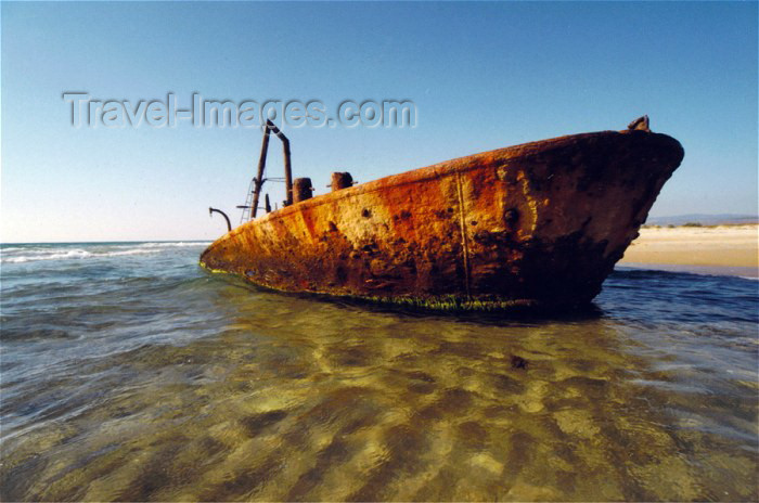 israel29: Israel - Habonim, Hof HaCarmel Regional Council, Haifa District: shipwreck rusting in the Mediterranean waters - photo by C.Ariav - (c) Travel-Images.com - Stock Photography agency - Image Bank