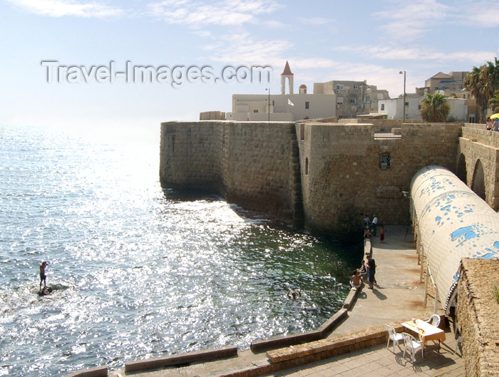 israel301: Israel - Acre - Old Acco: old town and the sea - Unesco world heritage - photo by E.Keren - (c) Travel-Images.com - Stock Photography agency - Image Bank