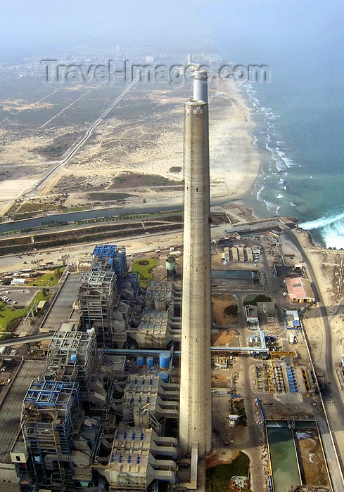 israel312: Israel - Hadera: Orot Rabin power station - Bird's eye view - photo by E.Keren - (c) Travel-Images.com - Stock Photography agency - Image Bank