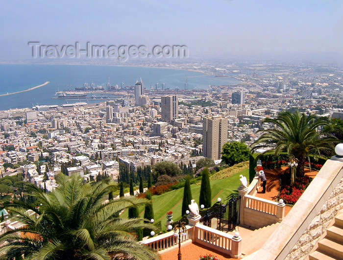 israel313: Haifa, Israel: bay and port - photo by E.Keren - (c) Travel-Images.com - Stock Photography agency - Image Bank
