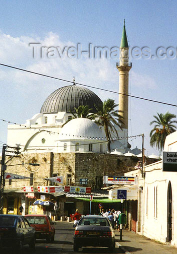 israel33: Israel - Mosque of Jezzar Pasha - al-Jezzar Street - Ottoman architecture - built by the Turks at the location of a Church - old city - Unesco world heritage - photo by G.Frysinger - (c) Travel-Images.com - Stock Photography agency - Image Bank