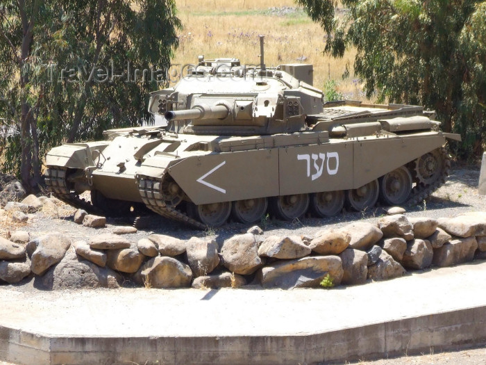 israel347: Israel - Golan Heights: old Centurion tank of the Tsahal - British Main Battle Tank, left over from the Six-Day War - Third Arab-Israeli War - photo by M.Bergsma - (c) Travel-Images.com - Stock Photography agency - Image Bank