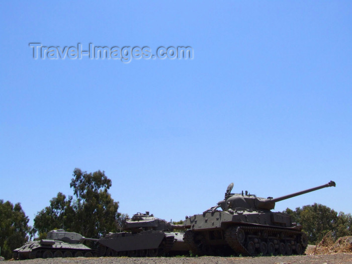 israel348: Israel - Golan Heights: Israeli and Syrian tanks, what is left over from the Six-Day War - Third Arab-Israeli War - 1967 Arab-Israeli War - photo by M.Bergsma - (c) Travel-Images.com - Stock Photography agency - Image Bank