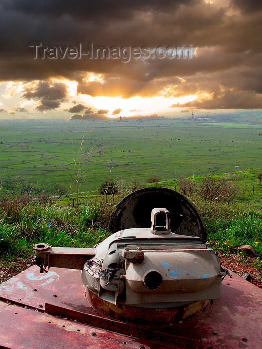 israel350: Golan Heights, Israel: view over the valley of Galilee from an old tank turret - remains of the Six-Day War - photo by E.Keren - (c) Travel-Images.com - Stock Photography agency - Image Bank