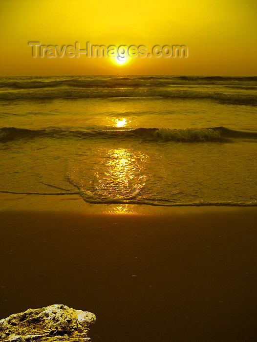 israel374: Kibbutz Sdot Yam, Israel: sunset - photo by E.Keren - (c) Travel-Images.com - Stock Photography agency - Image Bank