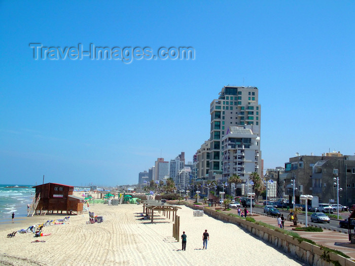 israel380: Tel Aviv, Israel: embankment and the beach - waterfront - photo by E.Keren - (c) Travel-Images.com - Stock Photography agency - Image Bank