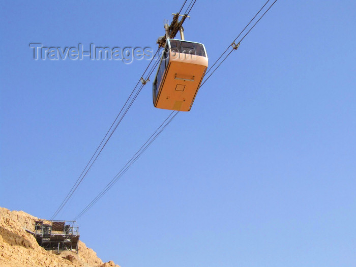 israel39: Israel - Masada, South district: the cable car - photo by M.Bergsma - (c) Travel-Images.com - Stock Photography agency - Image Bank