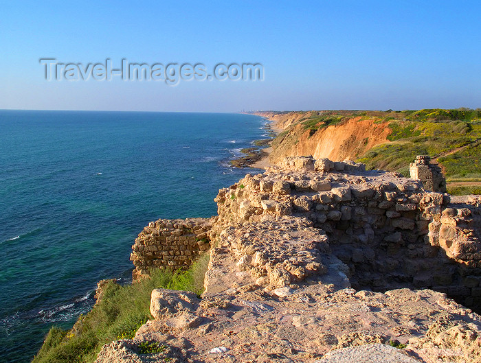 israel391: Israel - Herzliya: ruins of the Roman fort over the Mediterranean sea - photo by E.Keren - (c) Travel-Images.com - Stock Photography agency - Image Bank