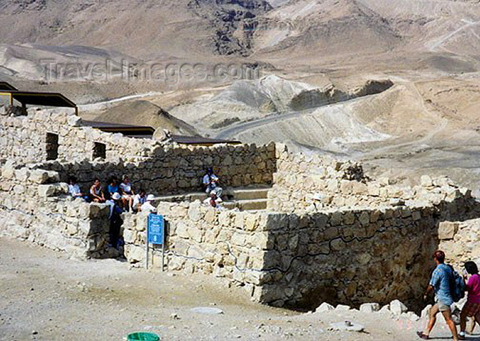 israel40: Israel - Masada: ruins of the town of Eleazar ben Jair's last stand - photo by G.Frysinger - (c) Travel-Images.com - Stock Photography agency - Image Bank