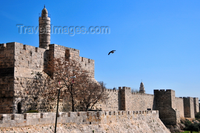 israel425: Jerusalem, Israel:  Old City of Jerusalem and its Walls - tower of David - photo by M.Torres - (c) Travel-Images.com - Stock Photography agency - Image Bank