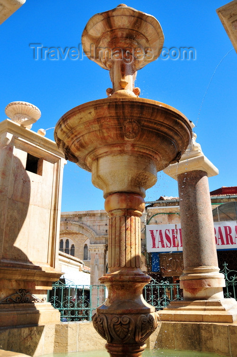 israel428: Jerusalem, Israel: Muristan ornamental fountain and market, Suq Aftimos - the fountain honors Sultan Abed al-Hamid II - Muristan, Christian quarter - photo by M.Torres - (c) Travel-Images.com - Stock Photography agency - Image Bank