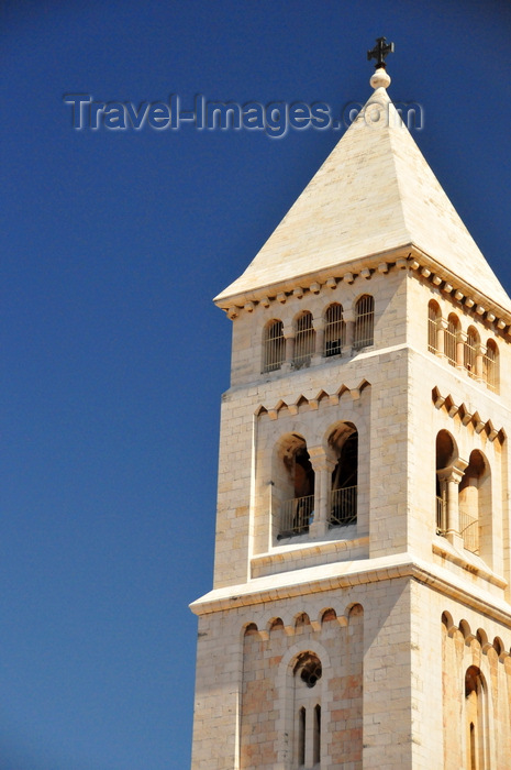 israel430: Jerusalem, Israel: neo-Romanesque stone belfry of the Lutheran Church of the Redeemer (Erlöserkirche), former Crusader church of St. Mary Latina - architect Friedrich Adler - Muristan, Christian quarter - photo by M.Torres - (c) Travel-Images.com - Stock Photography agency - Image Bank