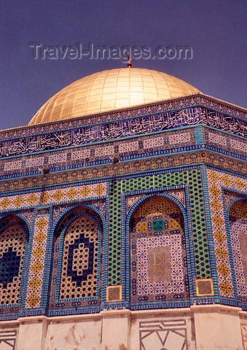israel5: Jerusalem: Dome of the Rock shrine on Haram esh-Sharif - Esplanade of the Mosques (photo by Miguel Torres) - (c) Travel-Images.com - Stock Photography agency - Image Bank