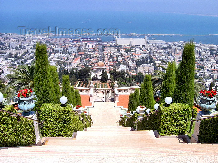 israel52: Haifa, Israel: gardens on mount Carmel- Har Ha'Karmel - Jabal Mar Elyas - photo by E.Keren - (c) Travel-Images.com - Stock Photography agency - Image Bank