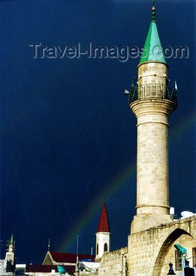 israel57: Israel - Akko / Acre: Sinan Pasha mosque - rainbow - Unesco world heritage site - photo by J.Kaman - (c) Travel-Images.com - Stock Photography agency - Image Bank