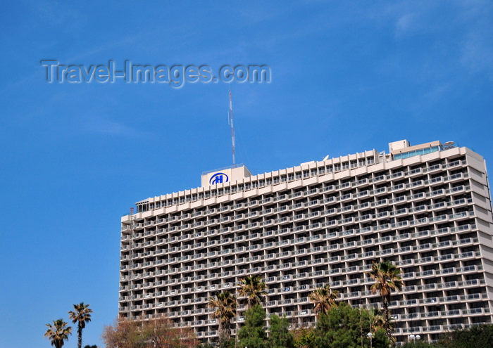 israel78: Tel Aviv, Israel: the seafront Hilton Hotel and sky - photo by M.Torres - (c) Travel-Images.com - Stock Photography agency - Image Bank
