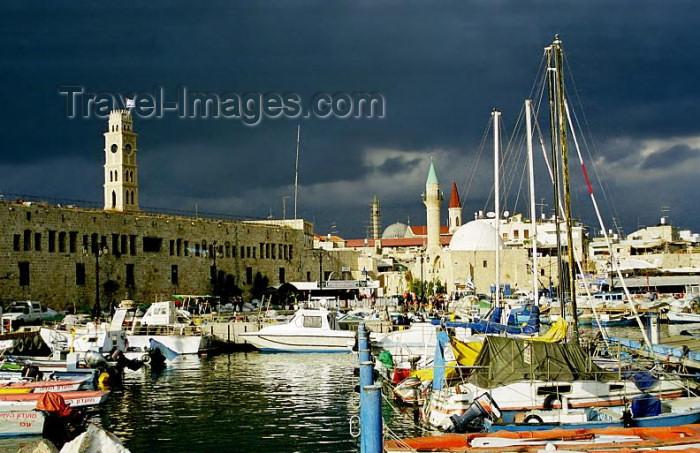 israel90: Israel - Akko / Acre: harbour and Khan Al-Umdan fort - photo by J.Kaman - (c) Travel-Images.com - Stock Photography agency - Image Bank