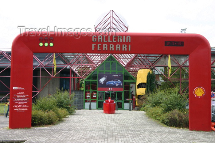 italy119: Maranello - Modena  (Emilia-Romagna): Galleria Ferrari - entrance (photo by C.Blam) - (c) Travel-Images.com - Stock Photography agency - Image Bank