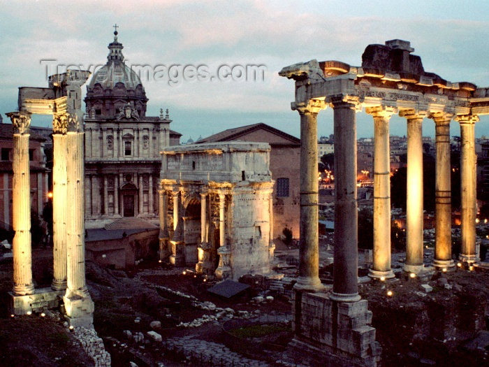 italy136: Italy / Italia - Rome: Roman Forum - evening - photo by M.Bergsma - (c) Travel-Images.com - Stock Photography agency - Image Bank