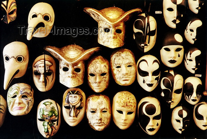 italy141: Italy - Venice: Venetian carnival masks (photo by J.Rabindra) - (c) Travel-Images.com - Stock Photography agency - Image Bank