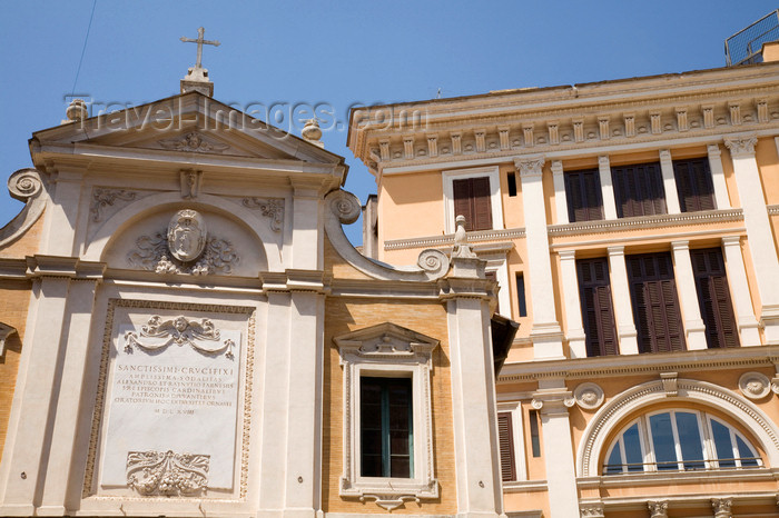 italy362: Rome, Italy: church in piazza dell'Oratorio - photo by I.Middleton - (c) Travel-Images.com - Stock Photography agency - Image Bank