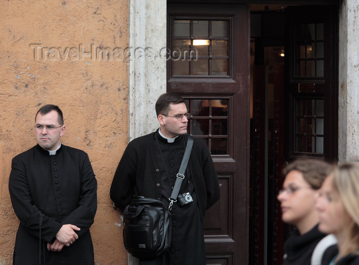 italy376: Rome, Italy - idle priests - photo by A.Dnieprowsky / Travel-images.com - (c) Travel-Images.com - Stock Photography agency - Image Bank