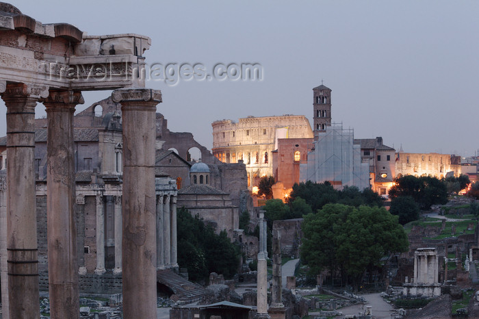 italy379: Rome, Italy - the Forum - evenig - photo by A.Dnieprowsky / Travel-images.com - (c) Travel-Images.com - Stock Photography agency - Image Bank