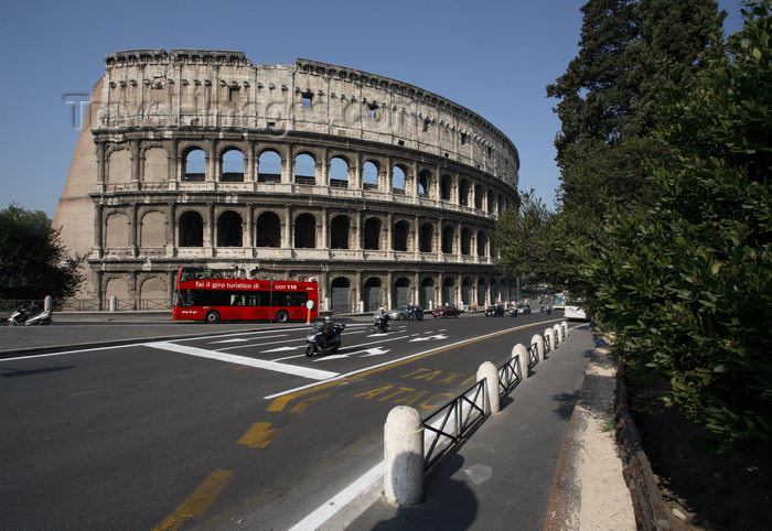italy383: Rome, Italy - coliseum and asphalt - photo by A.Dnieprowsky / Travel-images.com - (c) Travel-Images.com - Stock Photography agency - Image Bank