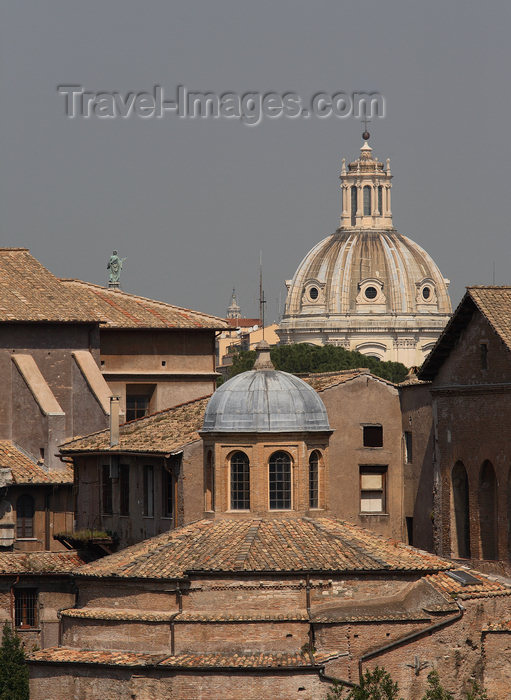 italy384: Rome, Italy - roof of the Temple of Romulus - photo by A.Dnieprowsky / Travel-images.com - (c) Travel-Images.com - Stock Photography agency - Image Bank