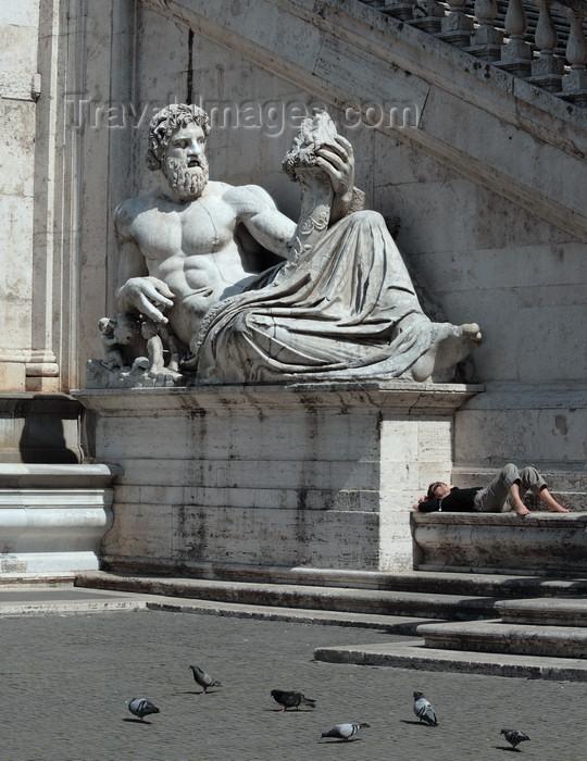 italy385: Rome, Italy: Tiber holding a cornucopia in Palazzo Senatorio, sculpture by by Giacomo Antonio Fancelli - Campidoglio - photo by A.Dnieprowsky / Travel-images.com - (c) Travel-Images.com - Stock Photography agency - Image Bank