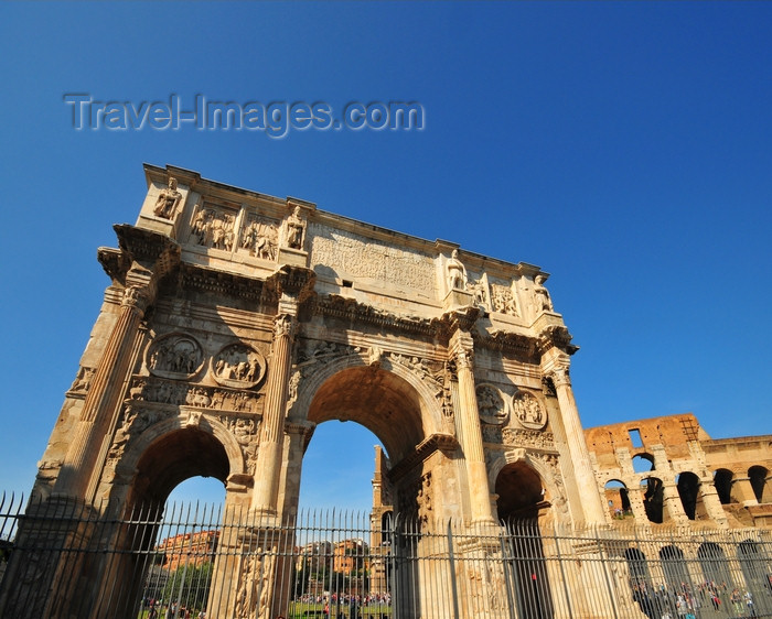 italy40: Rome, Italy: Arch of Constantine - Via Triumphalis - Arco di Costantino - photo by M.Torres - (c) Travel-Images.com - Stock Photography agency - Image Bank