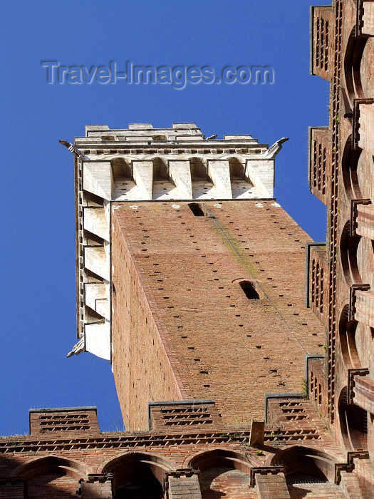 italy400: Italy / Italia - Siena  (Toscany / Toscana) / FLR : under Torre del Mangia - Mangia tower - Unesco world heritage site - photo by M.Bergsma - (c) Travel-Images.com - Stock Photography agency - Image Bank