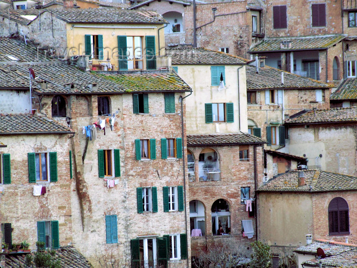 italy401: Italy / Italia - Siena (Toscany / Toscana) / FLR : old houses - photo by M.Bergsma - (c) Travel-Images.com - Stock Photography agency - Image Bank