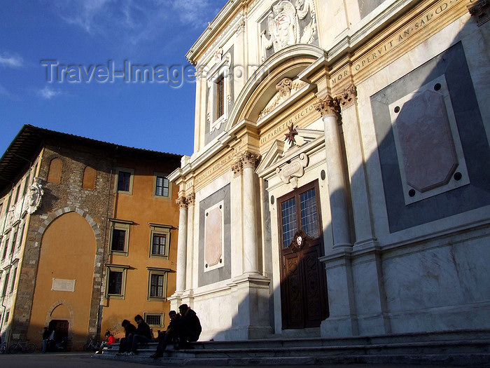 italy404: Pisa, Tuscany - Italy: Santo Stefano dei Cavalieri church - Piazza dei Cavalieri - photo by M.Bergsma - (c) Travel-Images.com - Stock Photography agency - Image Bank