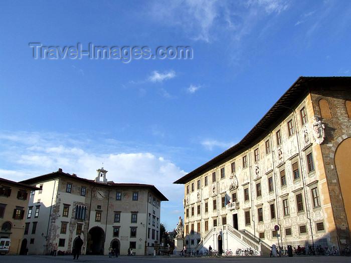 italy405: Pisa, Tuscany - Italy: Piazza dei Cavalieri - Palazzo della Carovana dei Cavalieri - Scuola Normale Superiore - photo by M.Bergsma - (c) Travel-Images.com - Stock Photography agency - Image Bank
