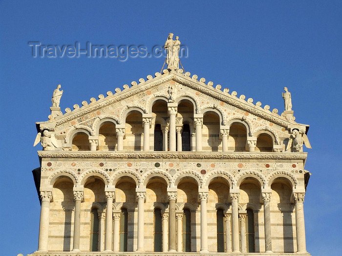italy408: Pisa, Tuscany - Italy: the Duomo, detail of the façade - photo by M.Bergsma - (c) Travel-Images.com - Stock Photography agency - Image Bank